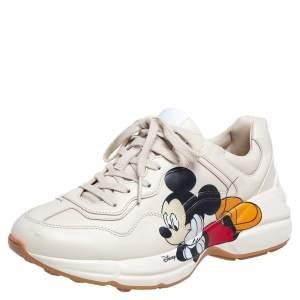 حذاء رياضي غوتشي ديزني رايتون جلد بطبعة ميكي ماوس بيج مقاس 38