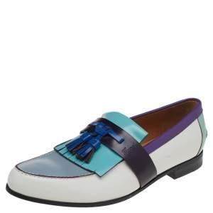 حذاء لوفرز غوتشي سليب أون جلد متعدد الألوان بشراشيب مقاس 41
