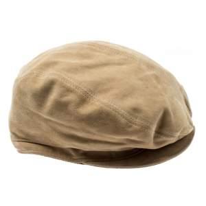 Gucci Beige Suede Large Beret Hat Size M