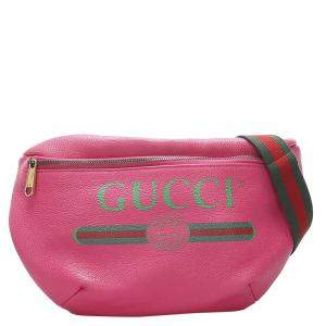 Gucci Pink 2018 Logo Leather Belt Bag