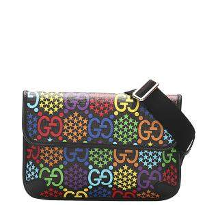 Gucci Multicolor GG Supreme Psychedelic Coated Canvas Belt Bag