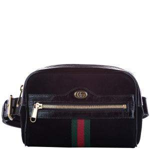 Gucci Black Suede Small Ophidia Belt Bag