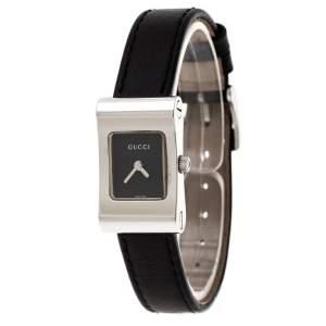 ساعة يد نسائية غوتشي 2300L  ستانلس ستيل سوداء 17 مم