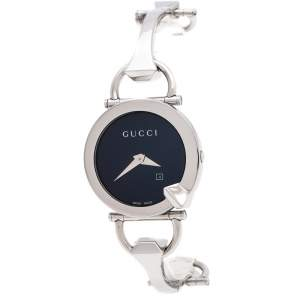 Gucci Black Stainless Steel Chiodo YA122502 Women's Wristwatch 36 mm