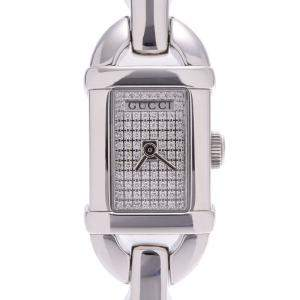 Gucci Diamonds Stainless Steel Bamboo 6800L Quartz Women's Wristwatch 26 MM