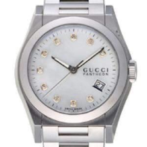 Gucci MOP Diamonds Stainless Steel Pantheon YA115403 115.4 Women's Wristwatch 36 MM