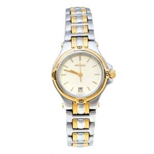 Gucci Champagne Two-Tone Stainless Steel 9040L Women's Wristwatch 26 mm