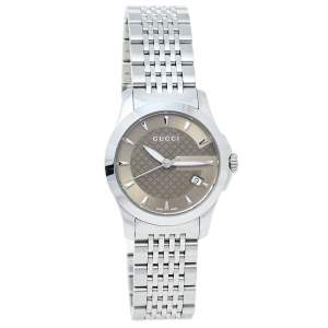 Gucci Brown Stainless Steel G-Timeless YA126503 Women's Wristwatch 27 mm