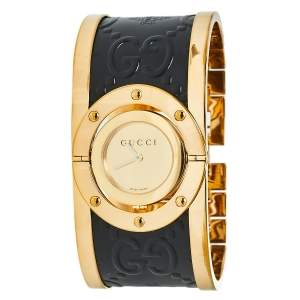 Gucci Gold PVD Stainless Steel Twirl YA112444 Women's Wristwatch 23 mm