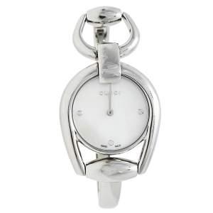 Gucci Mother Of Pearl Stainless Steel Horsebit 139.5 Women's Wristwatch 28 mm