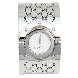 ساعة يد نسائية غوتشي توريل YA112424 ستانلس ستيل بيضاء 23 مم