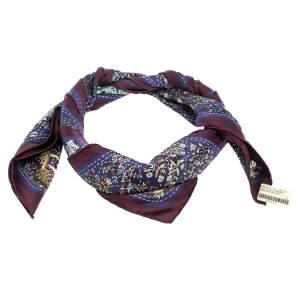 Hermes Multicolor Pique Fleuri De Provence Print Silk Scarf
