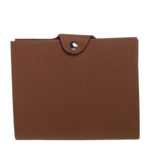 Hermes Gold Clemence Leather Ulysse PM Agenda Cover