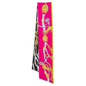 Hermès Bicolor Brides De Gala Silk Maxi Twilly Scarf