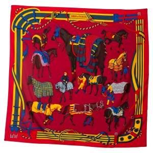 Hermès Bordeux Ronds De Marche Silk Scarf