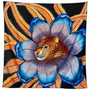 Hermès Multicolor Baobab Cat Silk Scarf