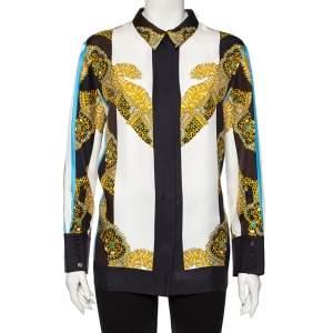 Hermes Multicolor Sous L'egide de Mars Reyures Printed Silk Shirt L