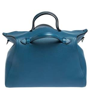 Hermes Colvert Evercolor Leather Palladium Hardware Oxer Top Handle Bag