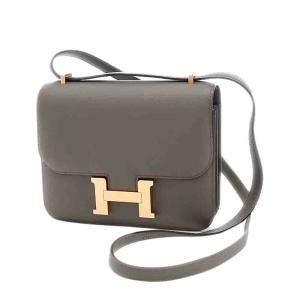 Hermes Grey Swift Leather Constance Mini 18 Bag