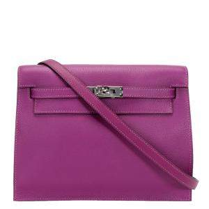Hermes Anemone Leather Evercolor Kelly Danse II Bag