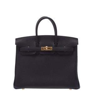 Hermes Black Togo Leather Gold Hardware Birkin (2021) 25 Bag