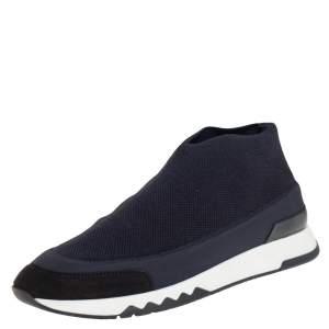 Hermes Black Knit Fabric Tokyo Slip On Sneakers Size 37.5