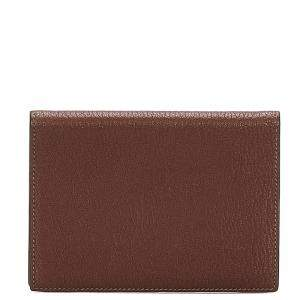 Hermes Brown Leather Passport Cover