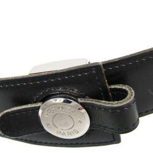 Hermes Black Leather Sellier Standard Belt 75 CM