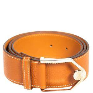 Hermes Tan Leather Etrier Belt 90CM