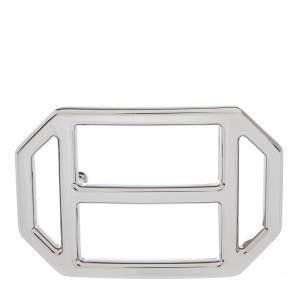 Hermes Silver Metal Tone H Hexagonal Buckle