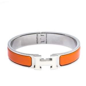 Hermès Clic H Multi Color Enamel Palladium Plated Narrow Bracelet PM