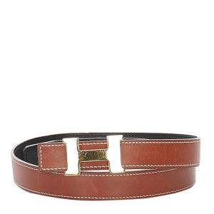 Hermes Brown Calf Leather Constance Belt