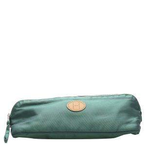 Hermes Green Canvas Bolide Twill Vice Versa Pouch
