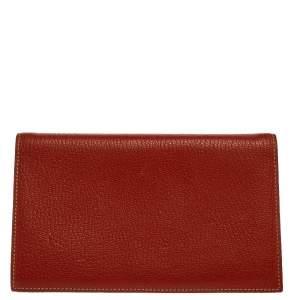 Hermes Feu Chevre Mysore Leather Agenda Cover