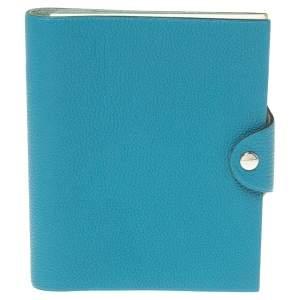Hermes Blue Leather Agenda Cover