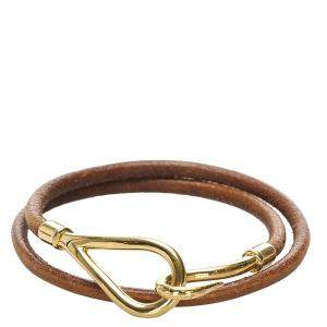 Hermes  Brown Hook Double Tour Bracelet