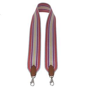 Hermes Multicolour Canvas Sangle Cavale 50mm Bag Strap