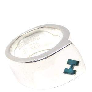 Hermes Silver Candy Ring