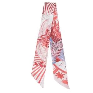 Hermes Pink Mythiques Phoenix Coloriage Silk Twilly Scarf