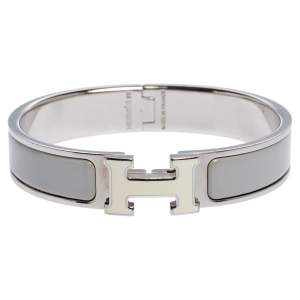 Hermes Clic H  Bi-Color Enamel Palladium Plated Bracelet PM