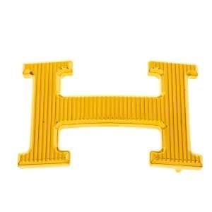 Hermès H Calandre Striée Gold Plated Belt Buckle