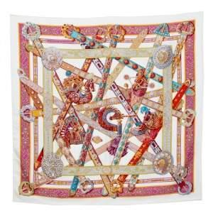 وشاح هيرمس حرير مربع لو سونغ دو لو ليكورن متعدد الألوان