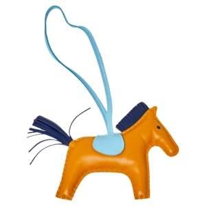 Hermes Tri Color GriGri Rodeo Horse Bag Charm GM