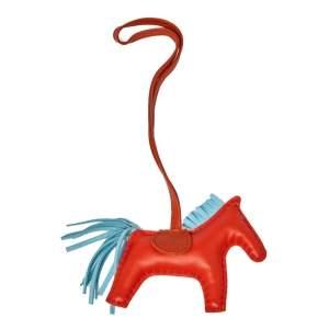 Hermès Capucine Milo Lambskin Grigri Rodeo Horse Bag Charm PM