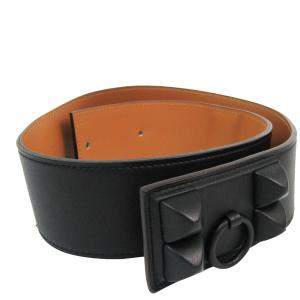 Hermes Black Leather Vintage Collier de Chien Belt