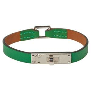 Hermès Green Leather Micro Kelly Bracelet S