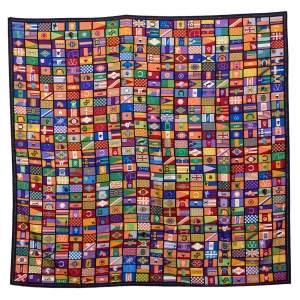 Hermes Multicolor en Voyage Printed Silk Square Scarf