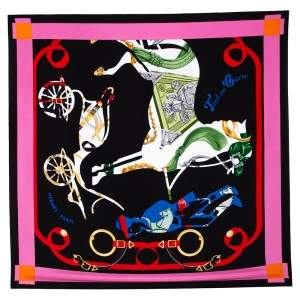 Hermes Multicolor Tout en Carre Silk Square Scarf