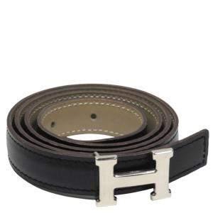 Hermes Black Leather Constance Belt
