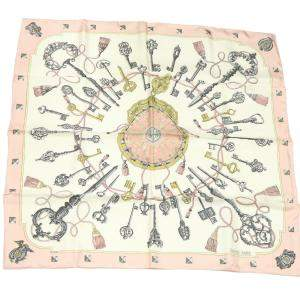 Hermes Multicolor Silk Carre 90 Scarf